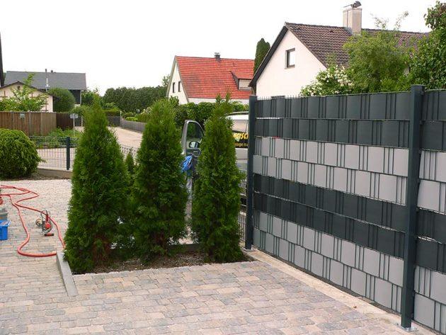 Sichtschutz als Gartenzaun