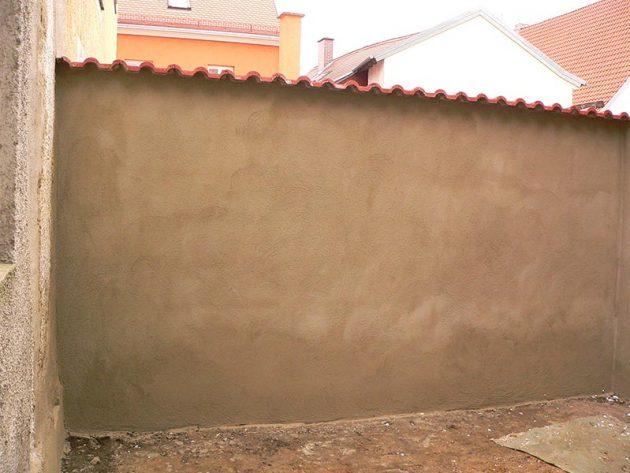 Verputzen einer Mauer